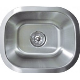 Amerisink AS124 Economy Line Undermount Stainless Steel Bar Sink