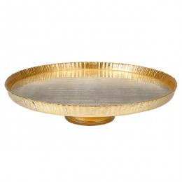 Badash Crystal D106G Antique Gold 8.5 inch Footed Cakeplate