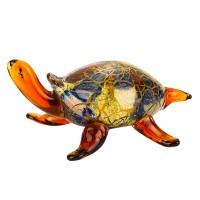 Badash Crystal J580 Firestorm Art Glass Turtle 5