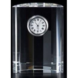 Badash Crystal Half Moon Crystal Clock