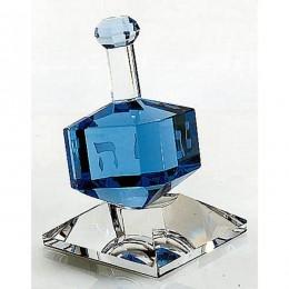 Badash Crystal Cobalt Dreidel on Stand
