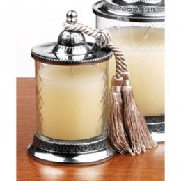 Badash Crystal Covered Vanilla Jar Tassle