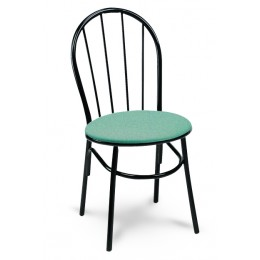 Carroll Chair 2-124 GR1 Spoke Back Dining and Cafe Chair