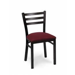 Carroll Chair 2-313 GR1 Three Rung Ladderback Dining and Cafe Chair