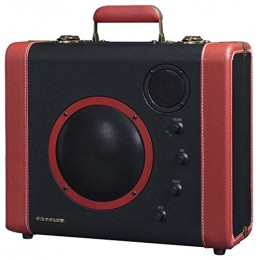 Crosley CR8008A-BK SoundBomb Portable Bluetooth Speaker System Black/Red