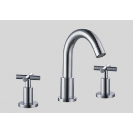 Dawn AB03 1513C 3-Hole Widespread Lavatory Faucet with Cross Handles