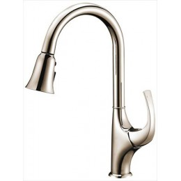 Dawn AB043277BN Brushed Nickel Single Lever Pull Out Kitchen Faucet