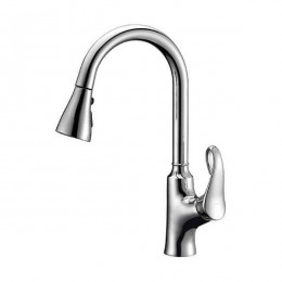Dawn AB063292C Chrome Single Lever Pull Out Kitchen Faucet