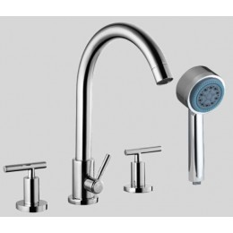 Dawn D162503C 4-Hole Tub Filler / Personal Handshower / Lever Handles
