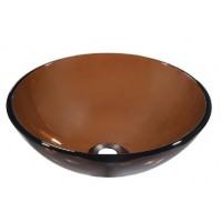 Dawn GVB84010RD Tempered Glass Vessel Bowl - Brown