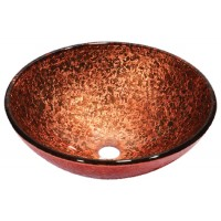Dawn GVB86131 Tempered Glass Vessel Bowl - Pink and Brown