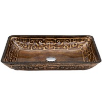 Dawn GVB86153-1 Tempered Glass Vessel Bowl - Painted Bronze