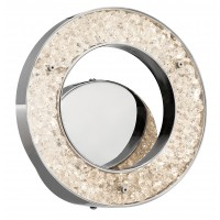 Elan 83414 Crushed Ice Collection Chrome LED Wall Sconce