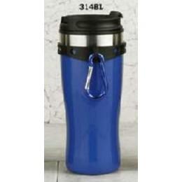 European Gift 314BL Blue Tumbler with Hang Clip & Screw Lid 16 oz