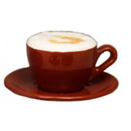 European Gift Italian Cafe Style Cappuccino Cup and Saucer Mocha 6.5oz