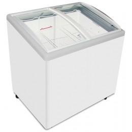 Excellence Industries EAC-33HC Curved Lid Display Freezer - 3 Basket