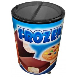 Excellence Industries RF-77HC Barrel Freezer Merchandiser