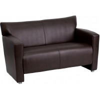 Flash Furniture 222-2-BN-GG Hercules Majesty Series Brown Leather Loveseat