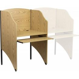 Flash Furniture MT-M6201-OAK-GG Starter Study Carrel in Oak Finish