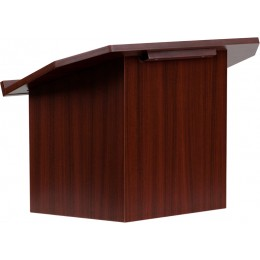 Flash Furniture MT-M8833-LECT-GG Foldable Tabletop Lectern in Mahogany
