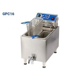 Globe GPC16 Electric Countertop Pasta Cooker Boiler 2 Basket 16lb Capacity 208/240v 6-20P 2900/3800w
