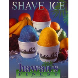 Gold Medal 1980 Hawaiis Finest Shave Ice Poster