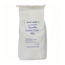 Gold Medal 8209 Old Fashioned Vanilla Waffle Cone Mix 6/5 lb Bags