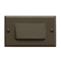 Kichler 12602AZ LED Horizontal Shielded Step Light Bronze 120V