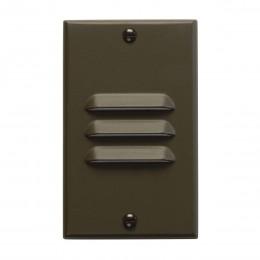 Kichler 12606AZ LED Vertical Louver Step Light Bronze 120V