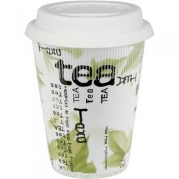 Konitz Tea Collage Travel Mug w/ Lid Set of Two