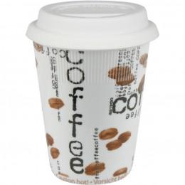 Konitz Coffee Collage Travel Mug w/ Lid Set of Two