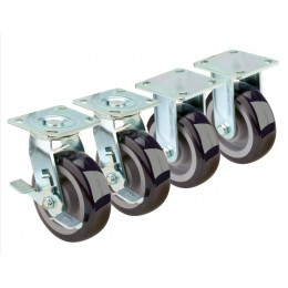 Krowne 28-180S - Extra Heavy Duty Large Plate Caster, 6