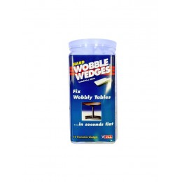 Krowne 29-160 - Wobble Wedges, Hard Clear, 75-Pack