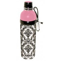 Stainless Steel Water Bottle 24 oz Damask Pink