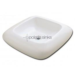 Polaris P001VB Bisque Pillow Top Porcelain Vessel Sink