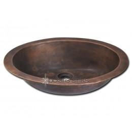 Polaris Single Bowl Bronze Bathroom Sink