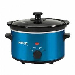 Nesco SC-150B Oval Slow Cooker, 1.5 Qt., Metalic Blue