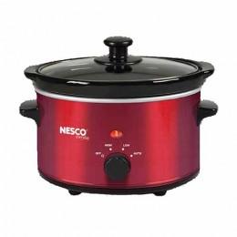 Nesco SC-150R Oval Slow Cooker Metalic Red, 1.5 Qt.