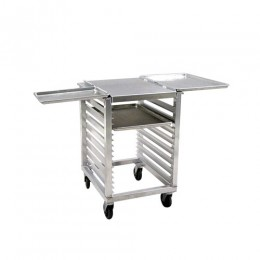 New Age 98001 Slicer-Mixer Stand, Outrigger Channels, 16 Pan Capacity