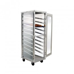 New Age 98063 Enclosed Display Cabinet, Clear Sides and Door 10 Pan