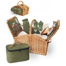 Somerset English Style Double Lid Willow Basket Premium Service