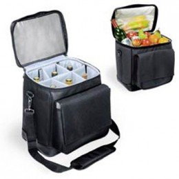 Cellar 6-Bottle Insulated Wine Tote w/ Interchangeable Liner - Black