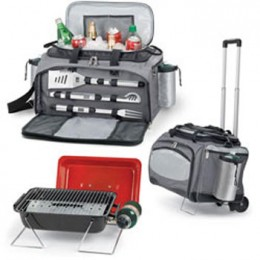 Picnic Time Vulcan with Trolley - Insulated Cooler Tote and Trolley