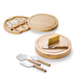 Picnic Time Circo Circular Cheese Board with Wooden Handles