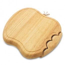 Picnic Time Apple Shaped Swivel Style Cutting Board