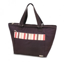 Topanga Moka Large Insulated Shoulder Tote w/ Water Resistant Liner