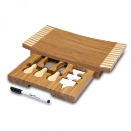Picnic Time Concavo Bamboo Cheese Cutting Board