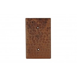 Premier Copper SB1 Blank Hand Hammered Copper Switch Plate Cover