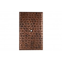 Premier Copper SB2 Blank Hand Hammered Copper Switch Plate Cover