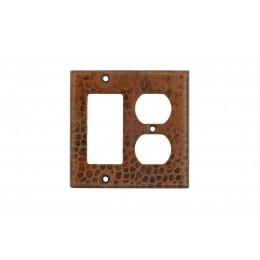 Premier Copper SCOR Copper Combination Switchplate